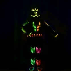 Light up led robot costume