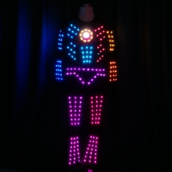 Led light dance costume for performance