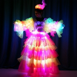 led samba dance dress