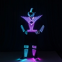 Full color light up tron costume