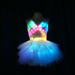 Full color led dance dress