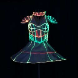 Fiber optic led dress