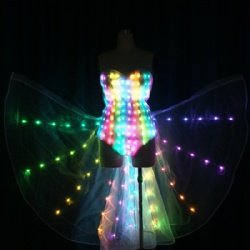 Led bikini dance wings