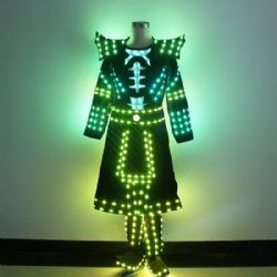 LED samurai suit