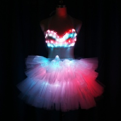 Led bra with short dress