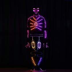 Led light performance costume