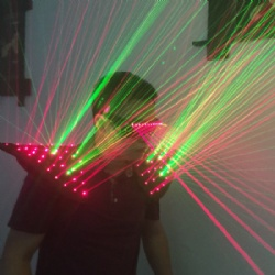Laser shoulder man costume