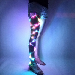 Led leg wraps DJ nightclub