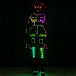 Led light up tron dance girl costumes