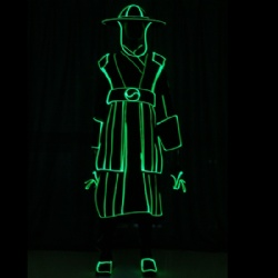 Led light warrior dance costumes