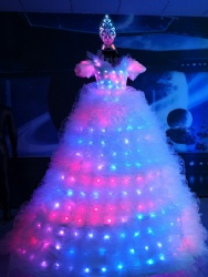 Walker stilts led light dress
