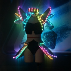 Led light girls robot costume