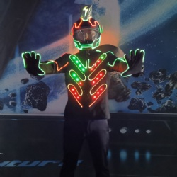 Light up led coat and led helmet