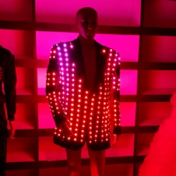 Light up led jacket for performance