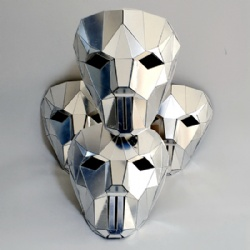 Silver mirror chrome mirror mask