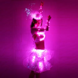 Sexy led bra tutu dance dress