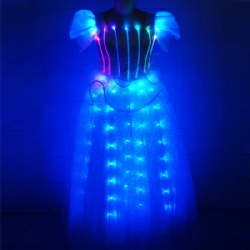 Led light up dress fiber optic
