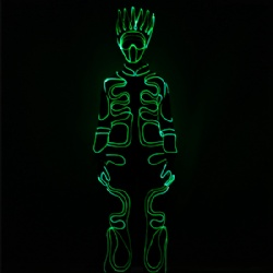 Wireless programmable led tron dancer costume