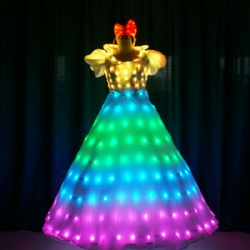 Full color princess led dress