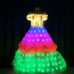 Full color light up dress for girls