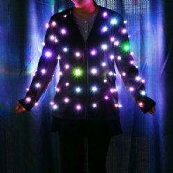 Led light up jackets women
