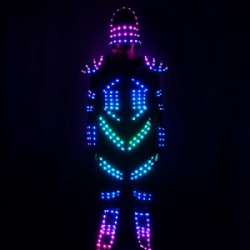 Full color led dance light costume
