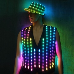 Led light performance vest hat