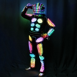 Full color light up led robot suit